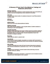 thumbnail of Adhesives, Coatings and Elastomers Glossary of Terms