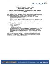 thumbnail of Hallcote® HECA and E/Z Mix™ HECA High-Efficiency Coalescing Agent